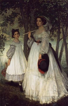 The Two Sisters Portrait James Jacques Joseph Tissot Oil Paintings