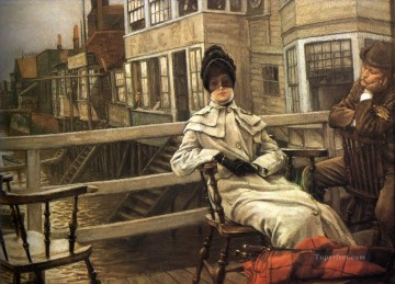 James Tissot Painting - Waiting for the Ferry 2 James Jacques Joseph Tissot