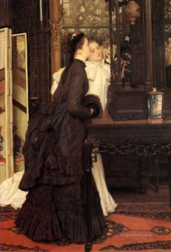 Young Ladies Looking at Japanese Objects James Jacques Joseph Tissot Oil Paintings
