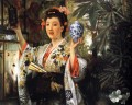 Young Lady Holding Japanese Objects James Jacques Joseph Tissot