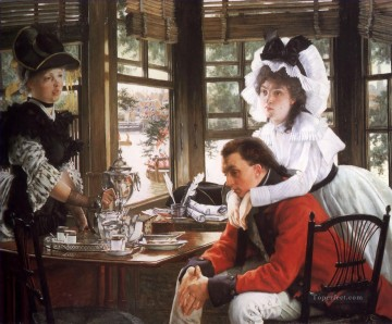 new orleans Painting - Bad News James Jacques Joseph Tissot