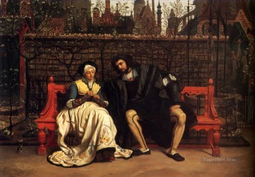 James Tissot Painting - Faust and Marguerite in the Garden James Jacques Joseph Tissot