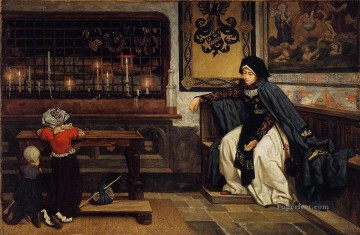 Church Art - Marguerite in Church James Jacques Joseph Tissot