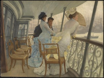 The Gallery of HMS Calcutta James Jacques Joseph Tissot Oil Paintings