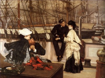 James Tissot Painting - The Captain and the Mate James Jacques Joseph Tissot