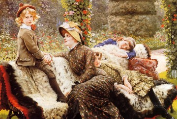 Bench Painting - The Garden Bench James Jacques Joseph Tissot