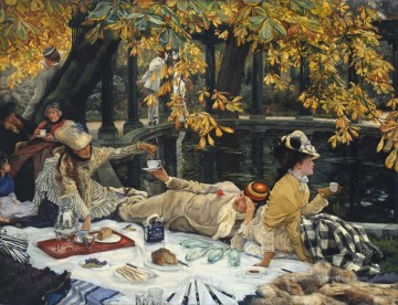 picnic Painting - The Picnic James Jacques Joseph Tissot