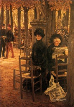 Letter L with Hats James Jacques Joseph Tissot Oil Paintings