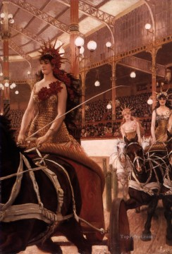 James Tissot Painting - The Ladies of the Cars James Jacques Joseph Tissot