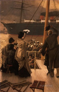 James Tissot Painting - Goodbye on the Mersey James Jacques Joseph Tissot