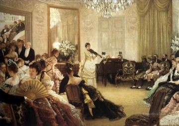 The Concert James Jacques Joseph Tissot Oil Paintings