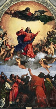 Assumption of the Virgin Titian Oil Paintings