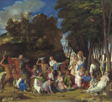 Feast of the Gods Tiziano Titian Oil Paintings