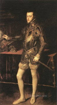 King Philip II Tiziano Titian Oil Paintings