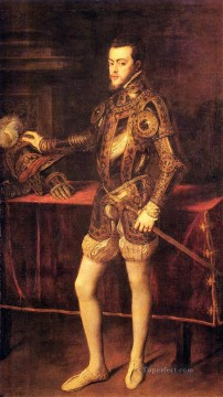 Titian Painting - Philipp II as Prince Tiziano Titian