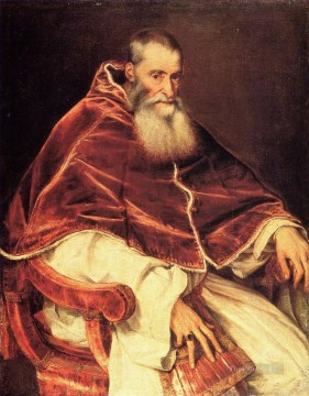 Pope Paul Tiziano Titian Oil Paintings