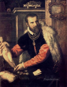 Portrait of Jacopo Strada Tiziano Titian Oil Paintings