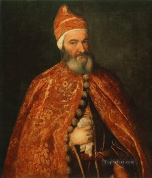 Portrait of Marcantonio Trevisani Tiziano Titian Oil Paintings