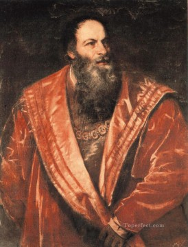 Portrait of Pietro Aretino Tiziano Titian Oil Paintings