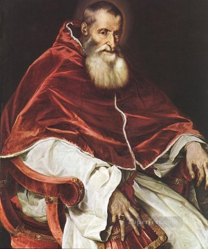 Titian Oil Painting - Portrait of Pope Paul III Tiziano Titian