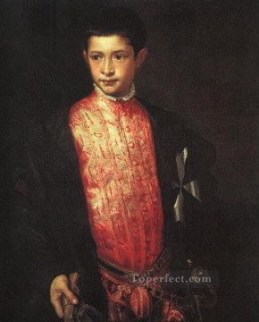 Titian Oil Painting - Portrait of Ranuccio Farnese Tiziano Titian