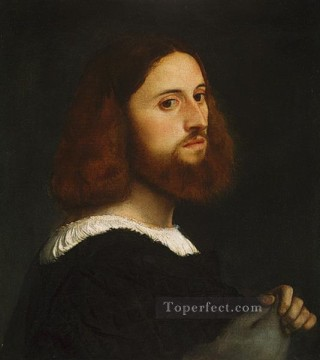 Titian Oil Painting - Portrait of a Man 1515 The Met Tiziano Titian