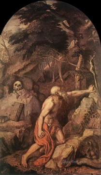 St Jerome Tiziano Titian Oil Paintings