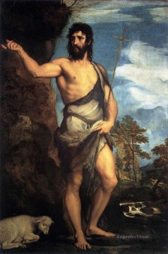 St John Tiziano Titian Oil Paintings