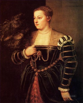 Titians daughter Lavinia 1560 Tiziano Titian Oil Paintings