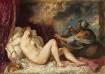 Danae 1553 nude Tiziano Titian Oil Paintings