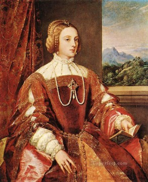 Titian Painting - Empress Isabel of Portugal Tiziano Titian