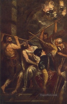 Titian Oil Painting - Crowning with Thorns Tiziano Titian