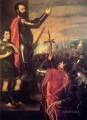 The Speech of Alfonso dAvalo 1540 Tiziano Titian