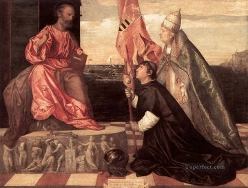 Tintoretto Pope Alexander IV Presenting Jacopo Pesaro to St Peter Tiziano Titian Oil Paintings
