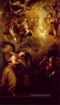 Annunciation Tiziano Titian Oil Paintings