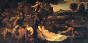 Jupiter and Anthiope Pardo Venus Tiziano Titian Oil Paintings