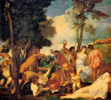 Bacchanal 1523 Tiziano Titian Oil Paintings