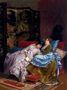 Afternoon Works - An Afternoon Idyll woman Auguste Toulmouche