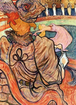 Henri de Toulouse Lautrec Painting - at the nouveau cirque the dancer and five stuffed shirts 1891 Toulouse Lautrec Henri de