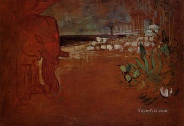 Henri de Toulouse Lautrec Painting - indian decor 1894 Toulouse Lautrec Henri de