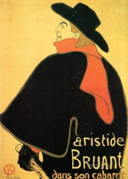 Impressionist Works - Aristede Bruand at His Cabaret post impressionist Henri de Toulouse Lautrec