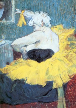 Henri de Toulouse Lautrec Painting - the clownesse cha u kao at the moulin rouge 1895 Toulouse Lautrec Henri de