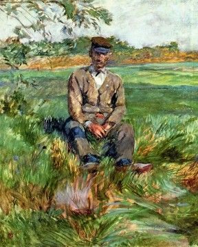 post impressionist Painting - A Laborer at Celeyran post impressionist Henri de Toulouse Lautrec