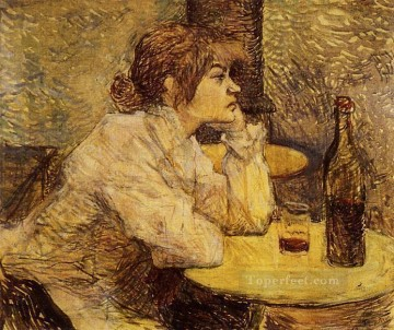 post impressionist Painting - Hangover aka The Drinker post impressionist Henri de Toulouse Lautrec