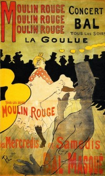post impressionist Painting - Moulin Rouge post impressionist Henri de Toulouse Lautrec