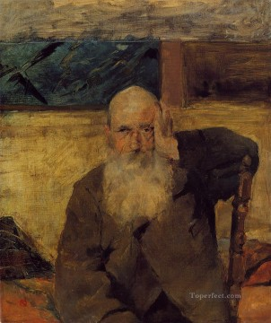 post impressionist Painting - Old Man at Celeyran post impressionist Henri de Toulouse Lautrec