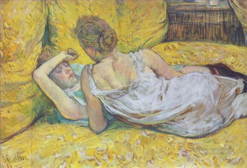1895 Oil Painting - abandonment the pair 1895 Toulouse Lautrec Henri de