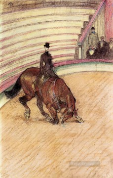 Henri de Toulouse Lautrec Painting - at the circus dressage 1899 Toulouse Lautrec Henri de