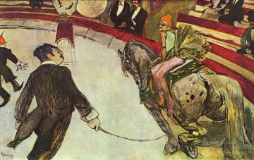 Henri de Toulouse Lautrec Painting - at the circus fernando the rider 1888 Toulouse Lautrec Henri de
