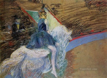 Henri de Toulouse Lautrec Painting - at the cirque fernando rider on a white horse 1888 Toulouse Lautrec Henri de